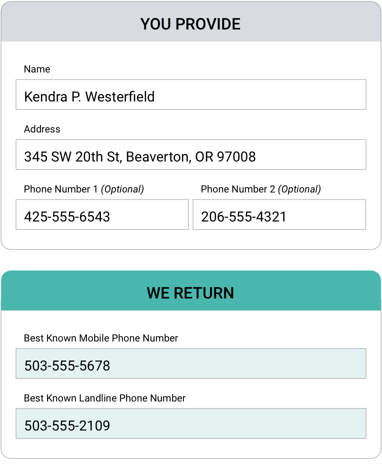 MULTIPLE PHONE NUMBERS